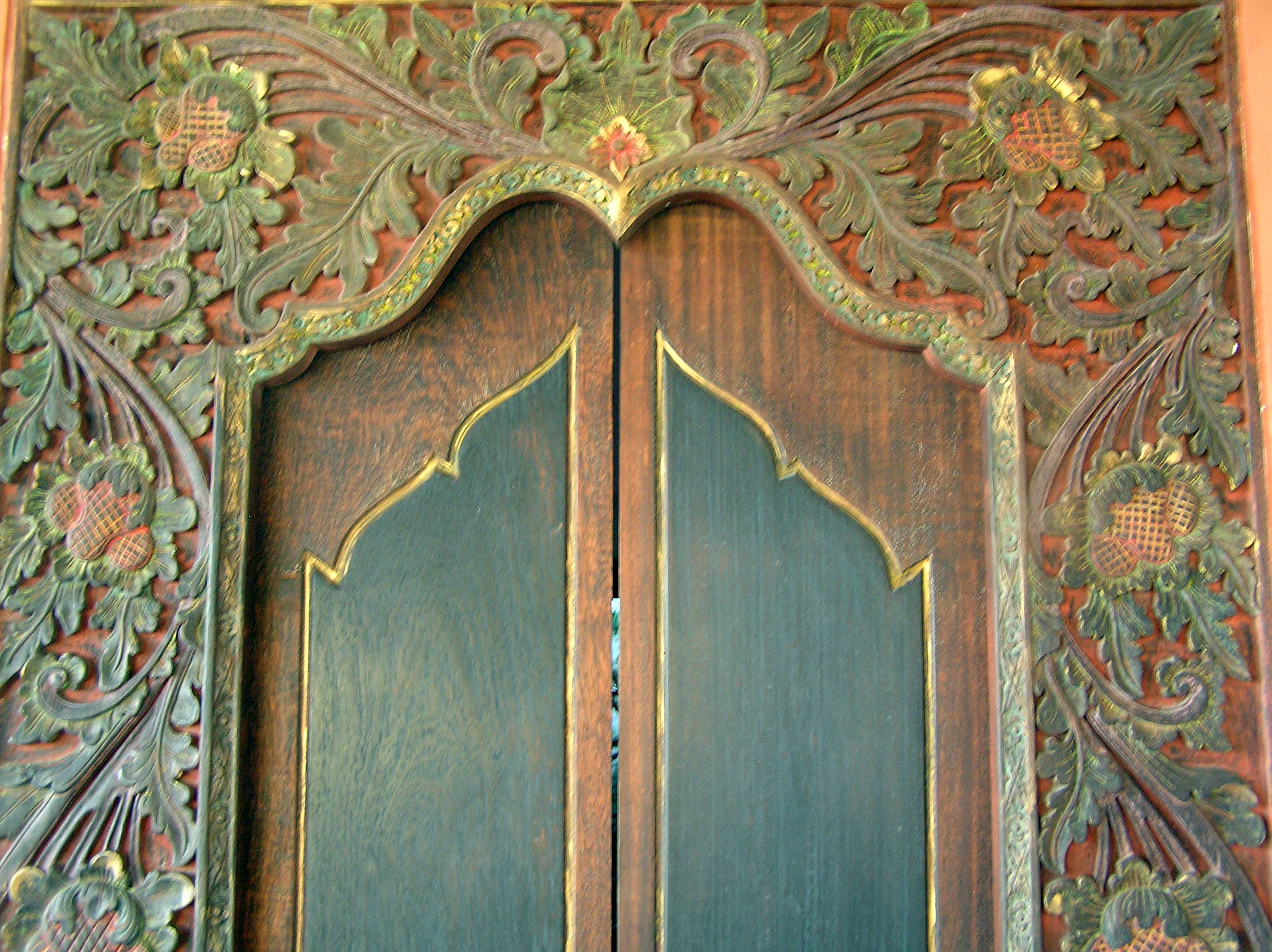 Bali Bedroom door at The Longhouse Jimbaran - Bali & Open Sesame! Balinese Doors | Compare Shops